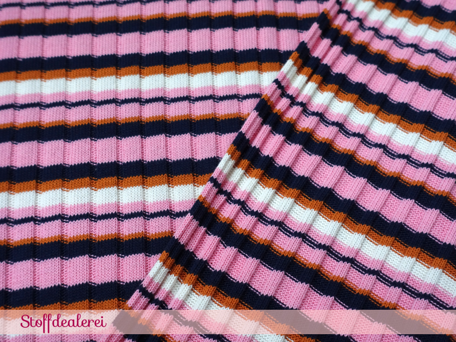 "Bio-Strick ""Knitty Stripes"" rosa"