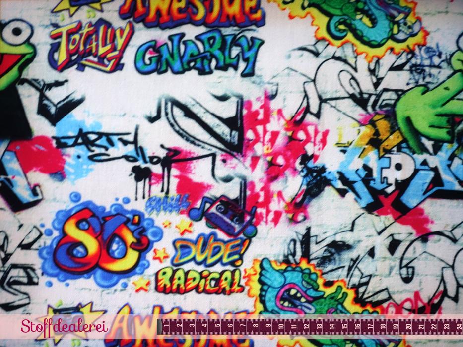 "Baumwoll-Webware ""Grafitti Frosch"""
