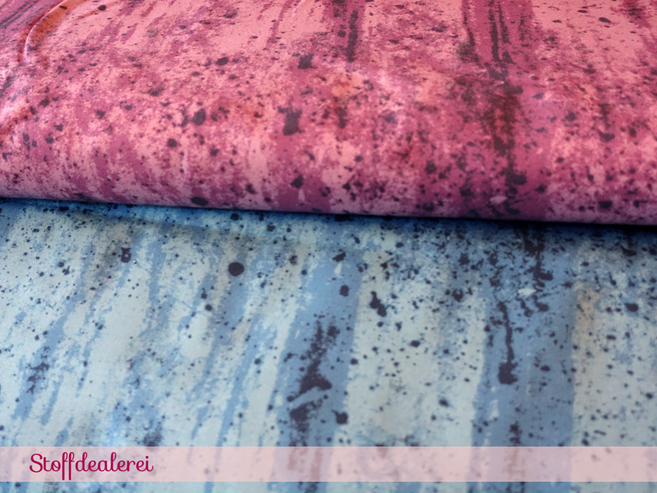 """Stretchjersey """"Rock Background"""" rosa"""