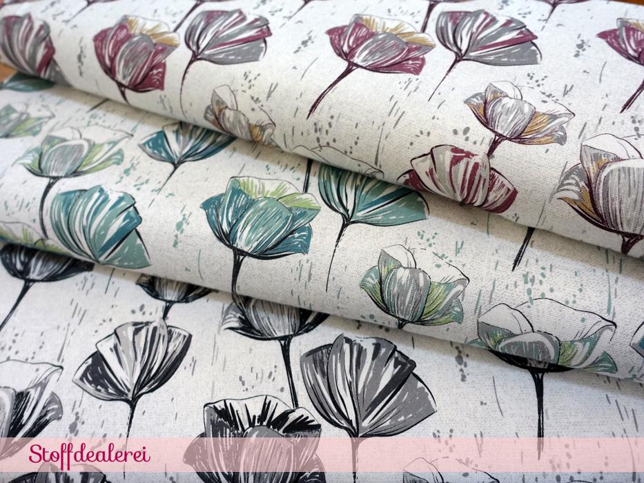 "Canvas ""Tulips"" grau"