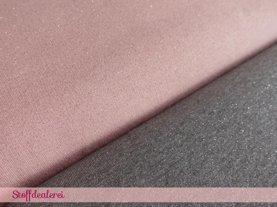 Glitzersweat grau-silber