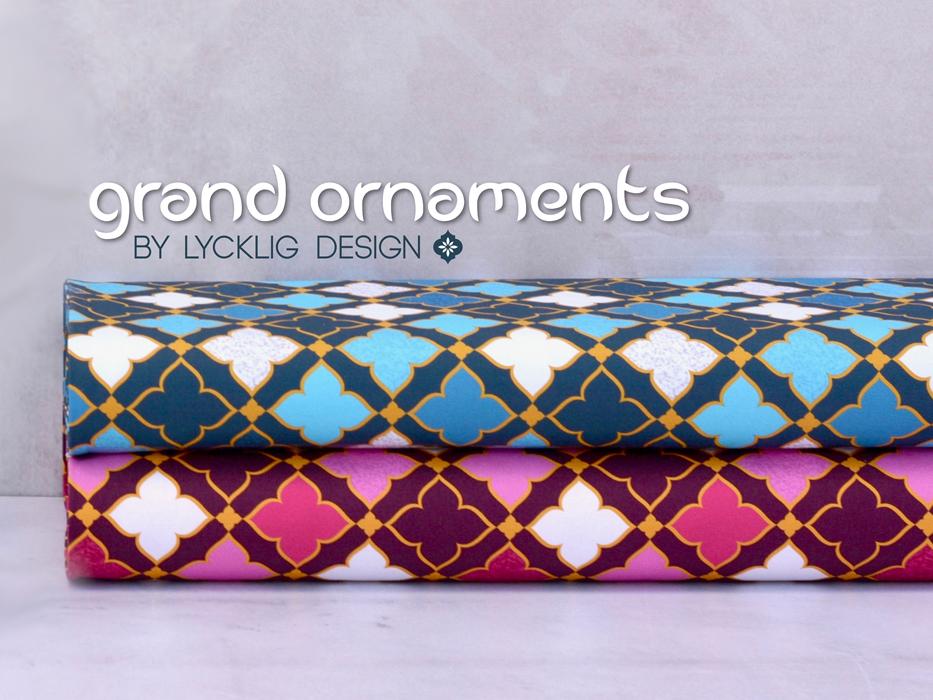 "Canvas ""Grand Ornaments"" blau"