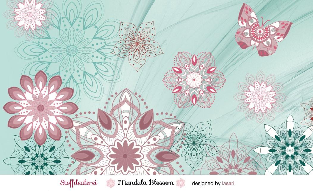 "Stretchjersey ""Mandala Blossom"""