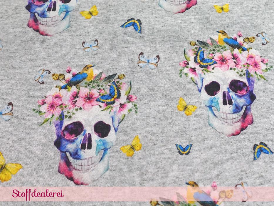 """French Terry """"Skull Flower"""""""