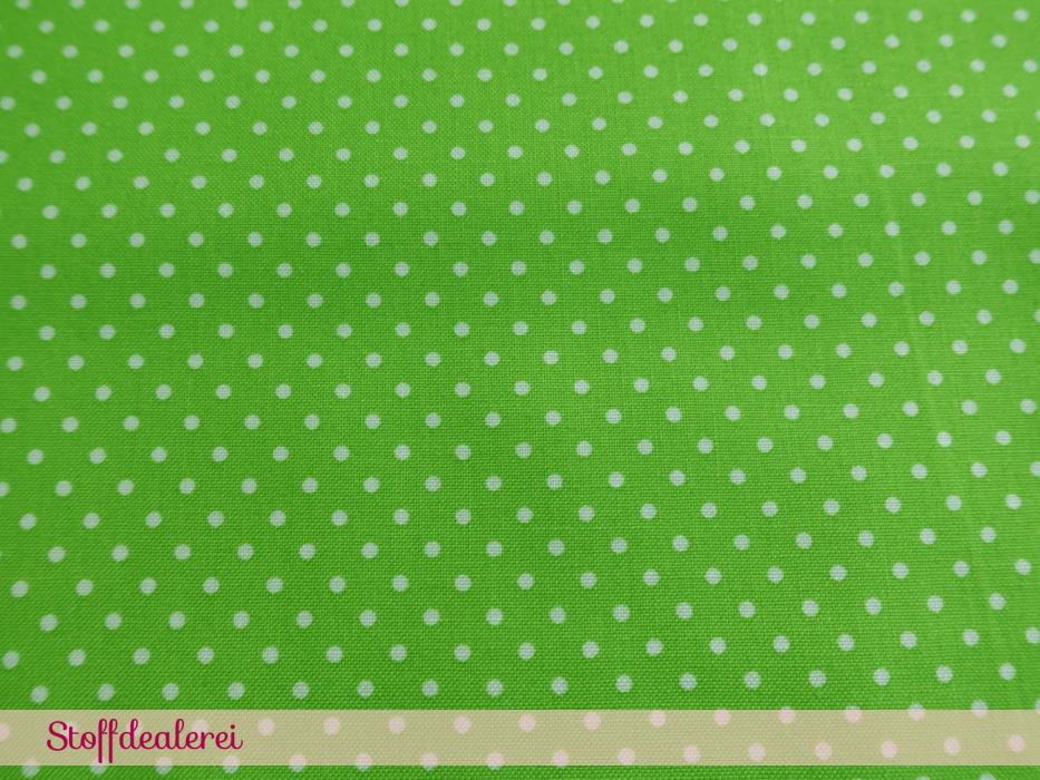 """Baumwoll-Webware """"Pünktchen"""" grün"""