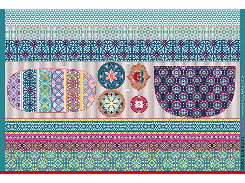 "Baumwolldruck ""Boho Bag"" Panel"