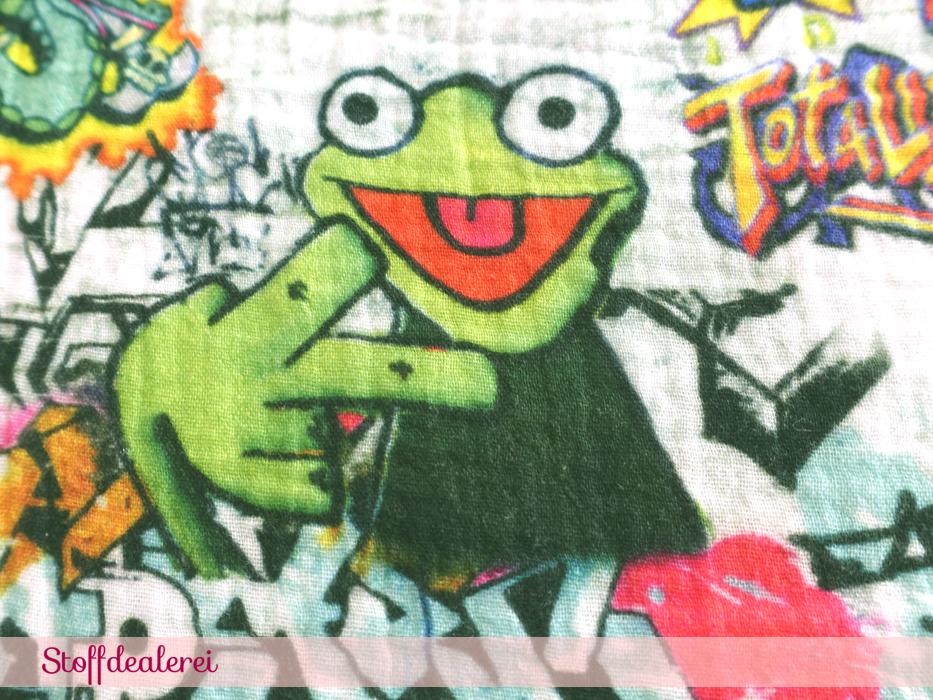 "Musselin ""Grafitti Frosch"""