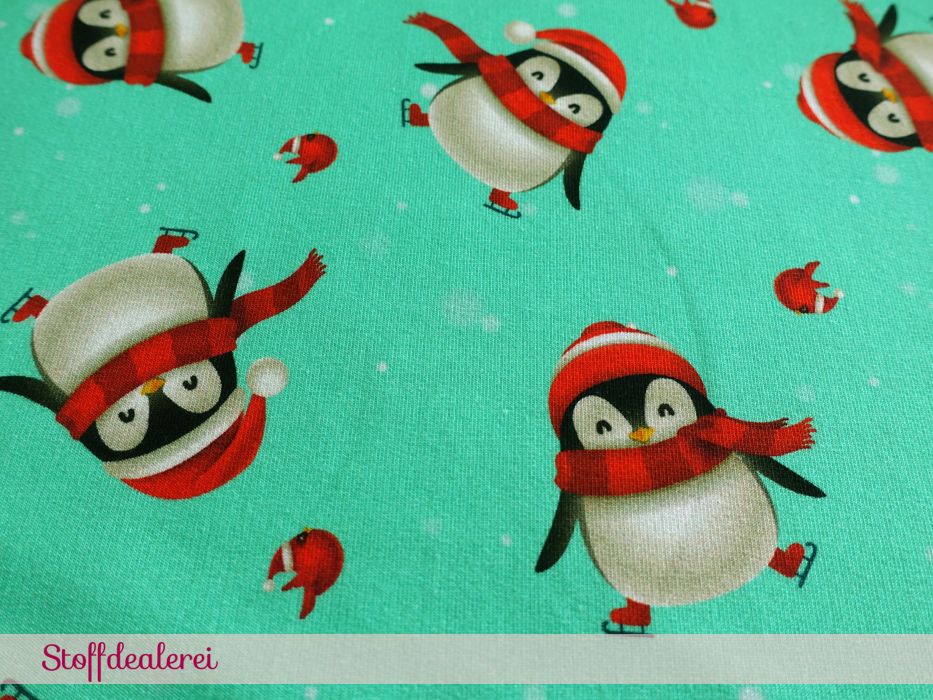 """French Terry """"Christmas Penguins"""""""