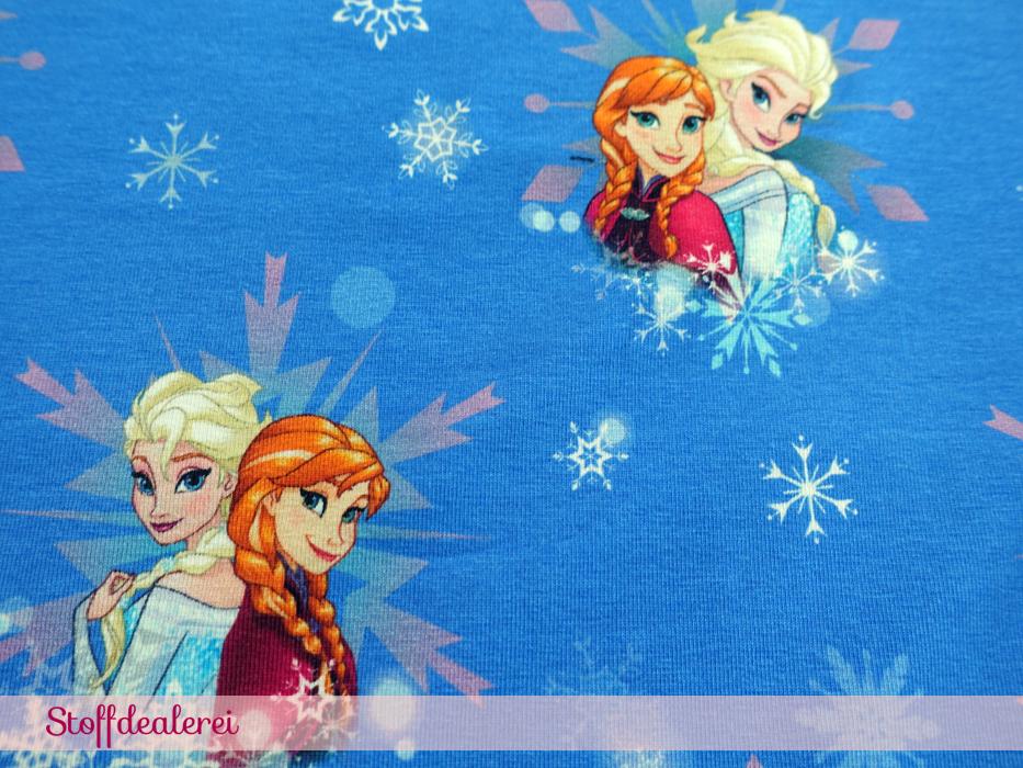 """Stretchjersey """"Frozen"""" Anna & Elsa"""