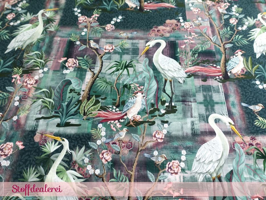 "French Terry ""White Winter Birds"""