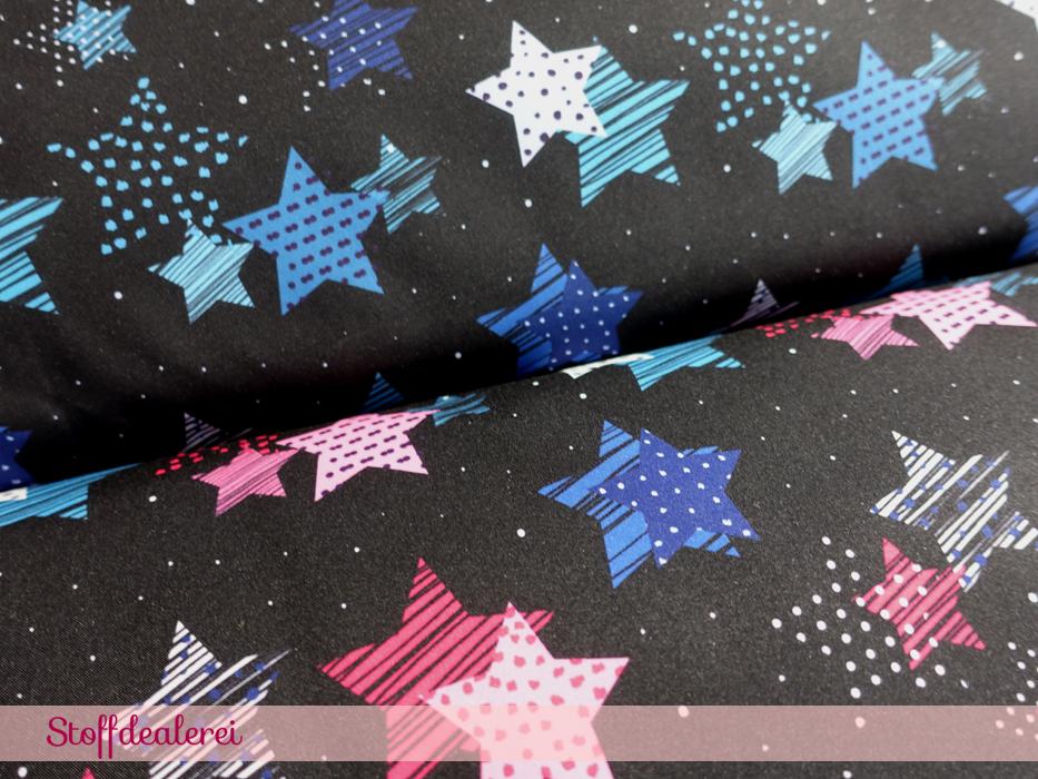 """Stretch-NANO-Softshell """"Fiete"""" Sterne pink"""