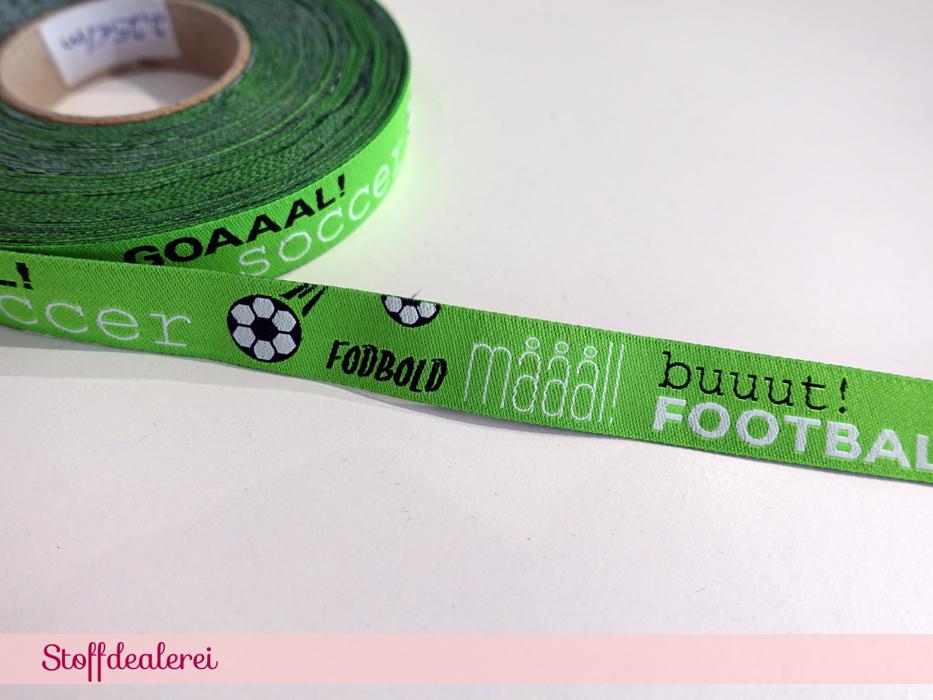"Webband ""Fußball"" hellgrün"